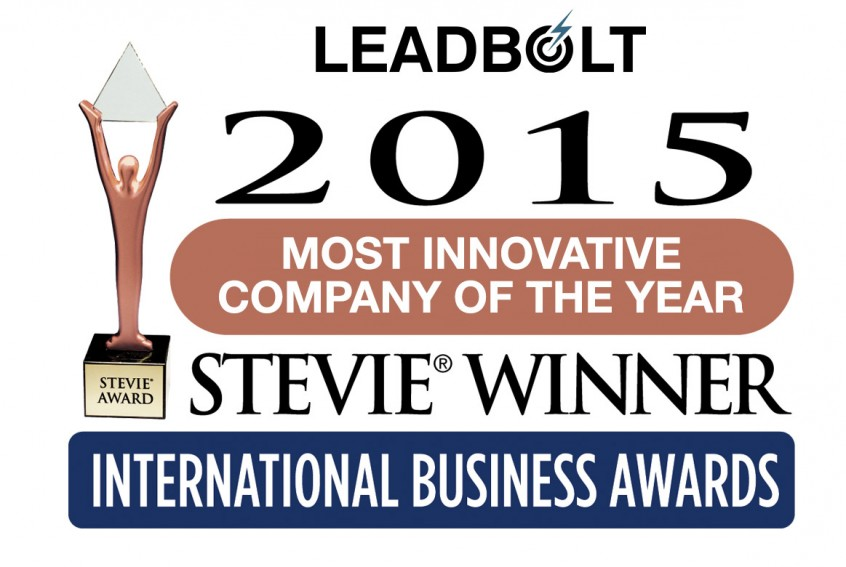 LeadboltWinsStevie2015_MostInnovativeCoYear-2015_v2
